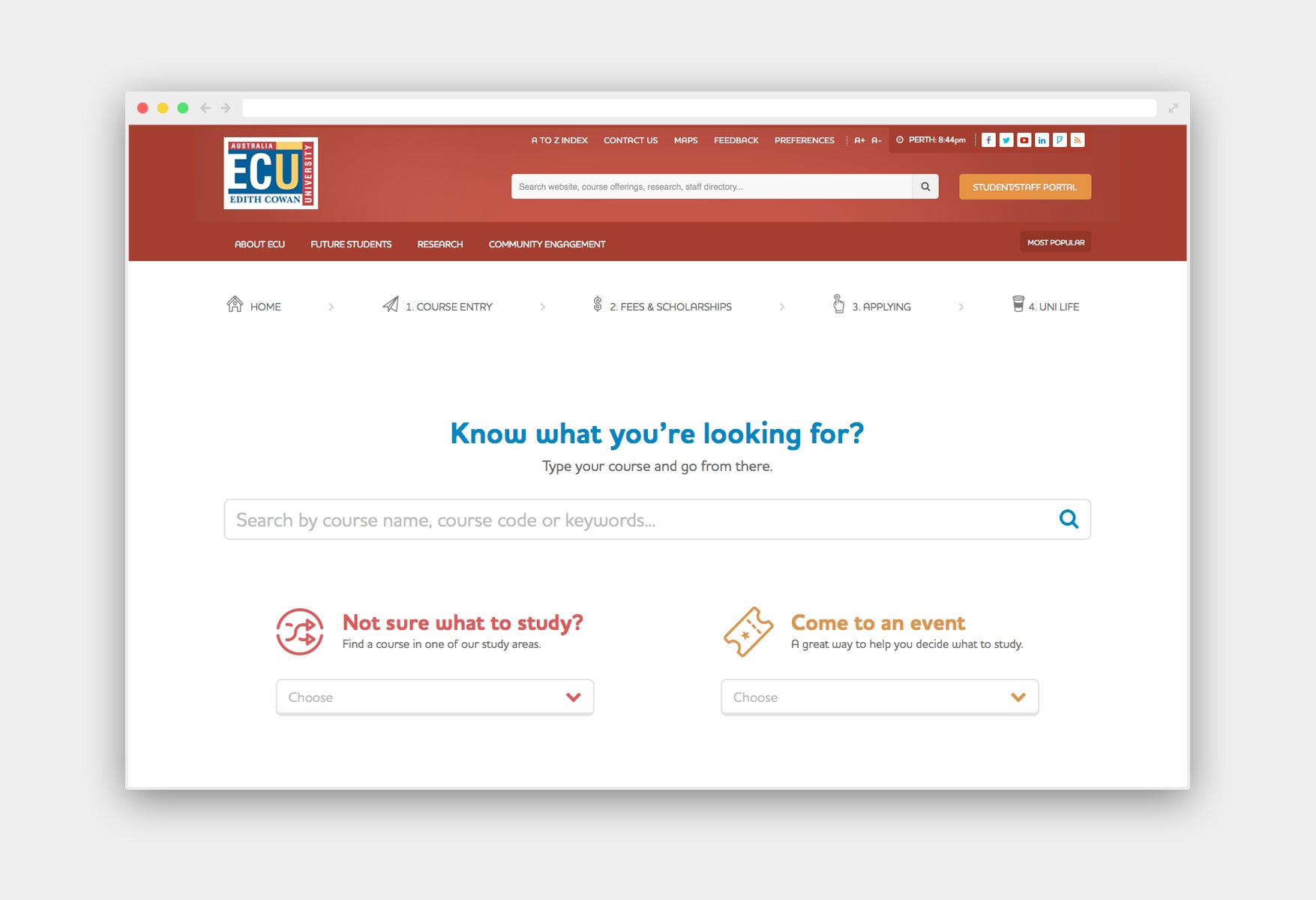 ECU homepage